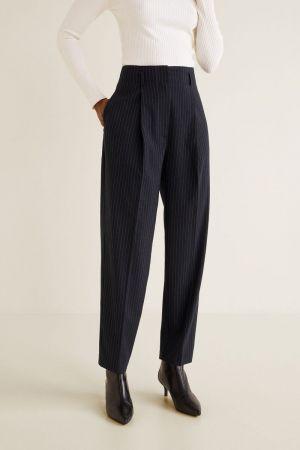 Mango prugaste poslovne ženske pantalone