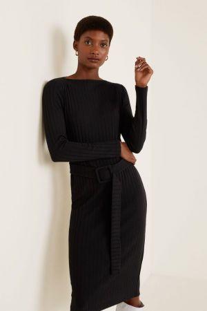 Mango crna haljina