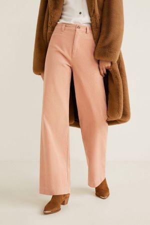 Corduroy roze pantalone