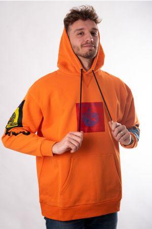 Narandžasta dukserica sa kapuljačom