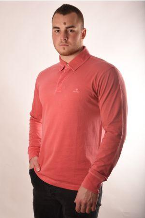 Roze polo majica dugi rukav
