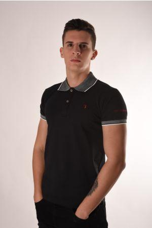 Trussardi crna polo majica