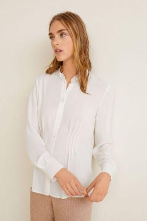 Mango bela bluza sa nabranim detaljem